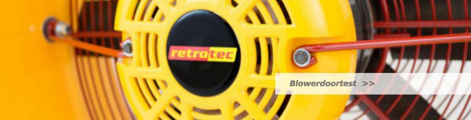 Energielabel Drenthe maakt gebruik van Blowerdoor bij een luchtdichtheidstest